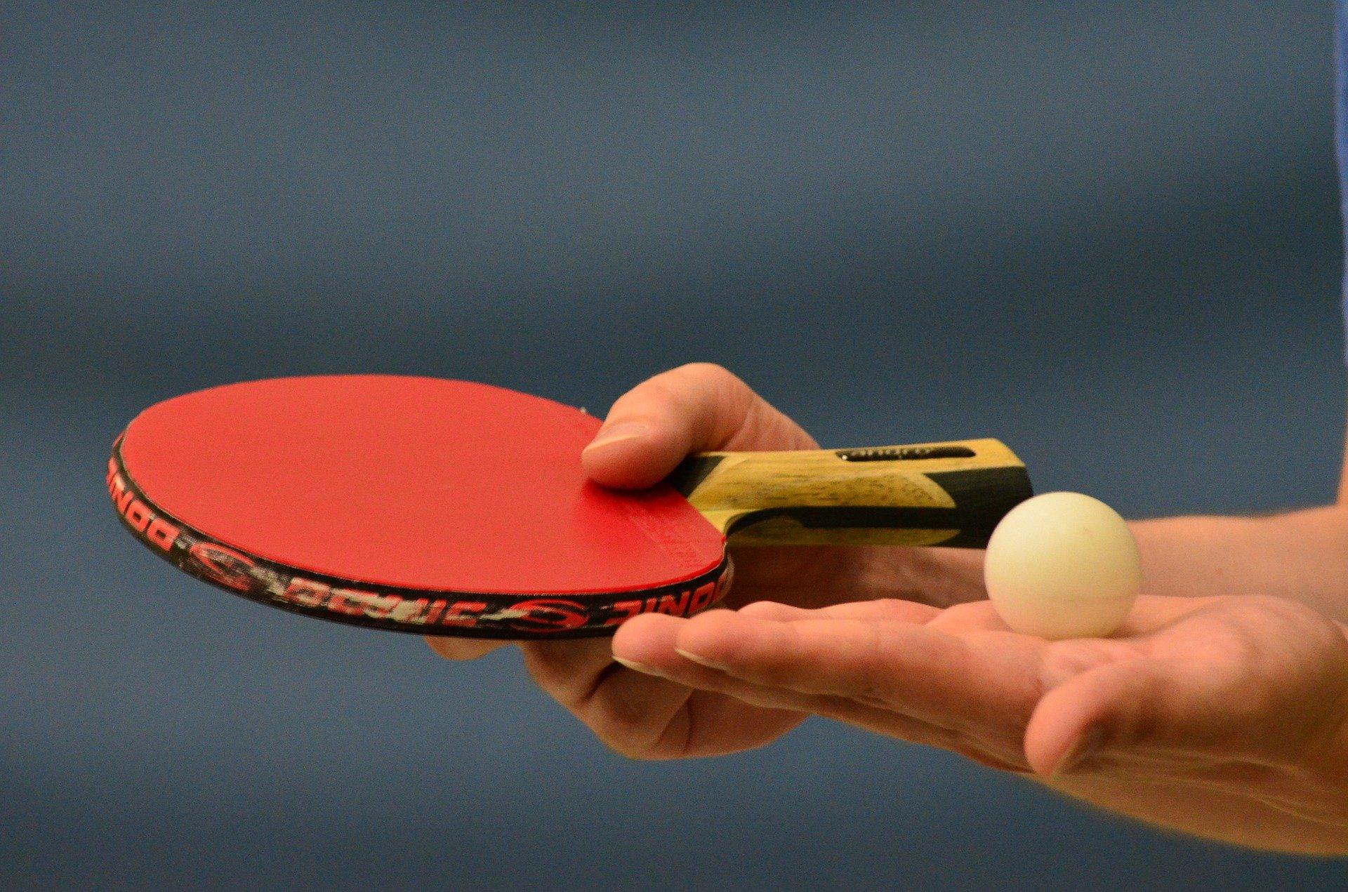 Tischtennisschläger rot schwarz