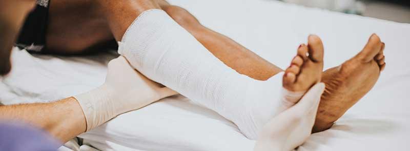 Kompression von Verletzungen
