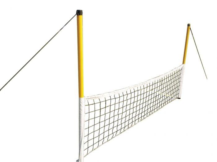 Niedriges Netz für Fußballtennis