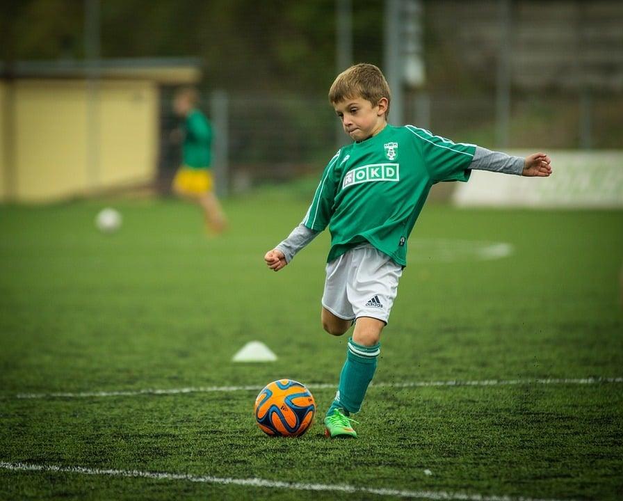 Fußballtennis im Training