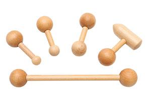 Pedalo® Faszien Sticks aus Holz