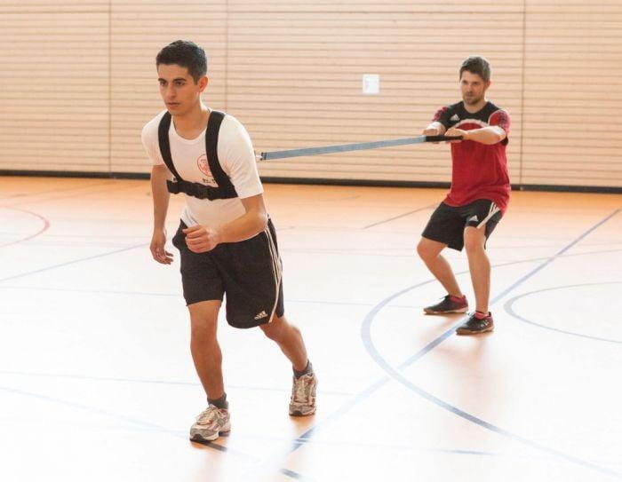 Reaktionsgürtel im Handballtraining