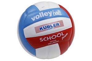 Bälle beim Aufwärmen im Volleyball