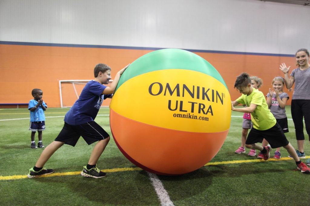 Übungen im Kin-Ball