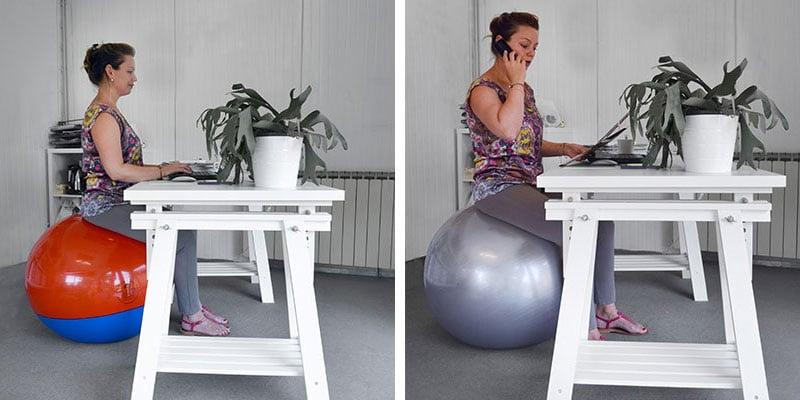 Ergonomisch und aktiv Sitzen mit dem Sitzball