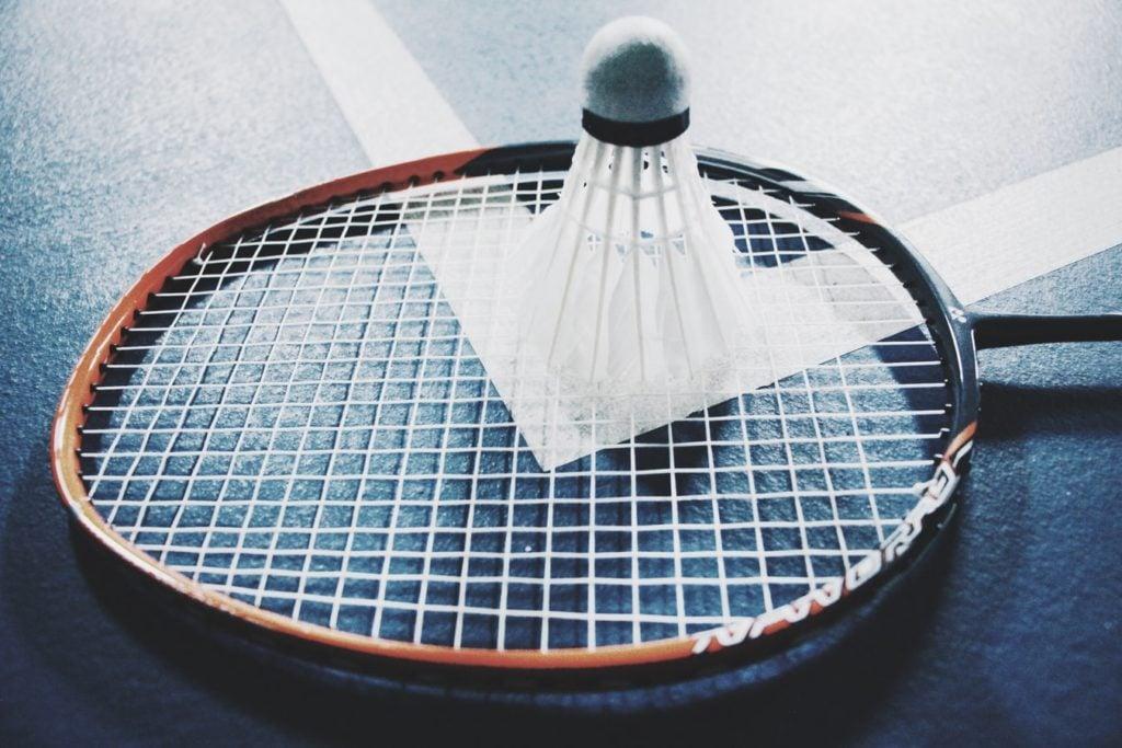 Spielfeld von Badminton