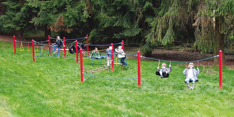 Kletterparcours für den Spielplatz