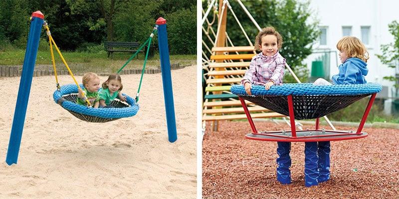 Vogelnestschaukel und Adlerhorst sind Klassiker auf dem Spielplatz
