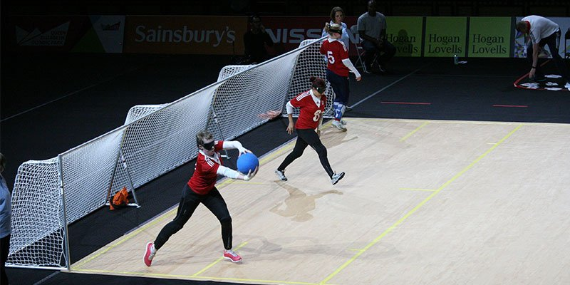 Goalball Angriff
