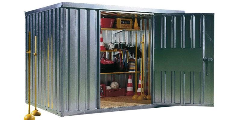 Materialcontainer und Garagen zur Aufbewahrung