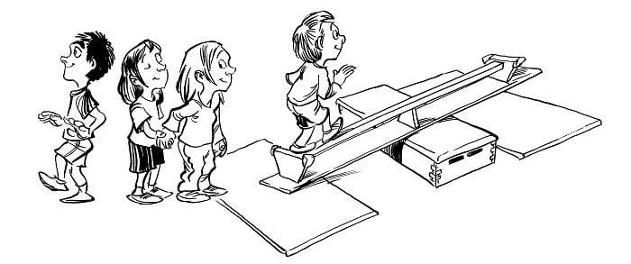 Balancieren im Unterricht in der Schule