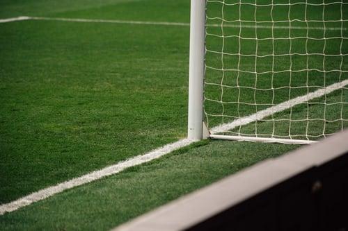 Torsicherung von einem Fußballtor