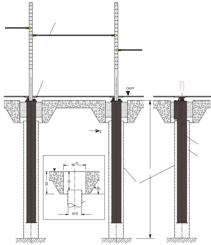 Technische Zeichnung eines Versenkrecks