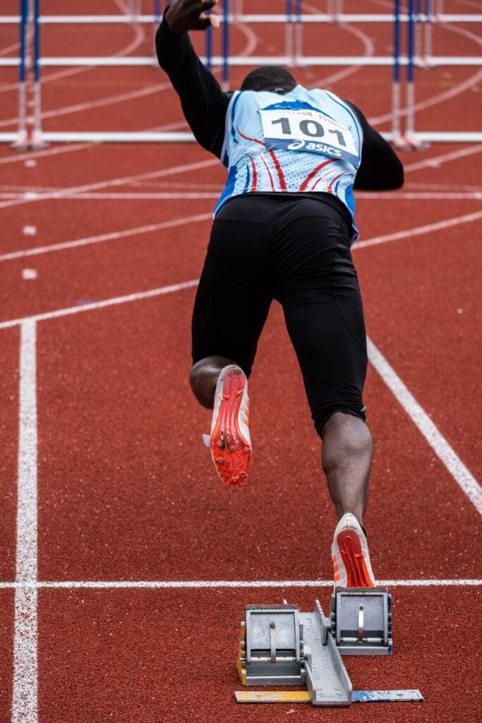 Startblock in der Leichtathletik
