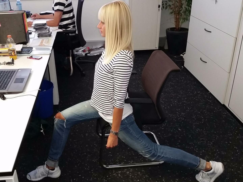 Yoga während dem Arbeiten